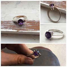 925 nickel free sterling silver with Amethyst Piercingheartbeat@gmail.com