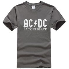 Summer Cotton Short Sleeve Tees AC DC Brand Men T-shirt Metal Rock Band AC/DC Printed T Shirt Male Hip Hop XS-2XL T133 Tops