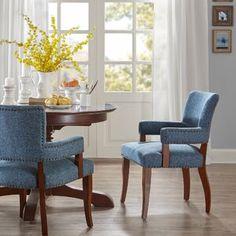 Ebern Designs Chamisa Swivel Bar & Counter Stool & Reviews | Wayfair Dining Room Bar, Kitchen Chairs, Room Kitchen, Dining Area, Kitchen Ideas, Blue Dining Room Chairs, Office Chairs, Kitchen Designs, Dining Table