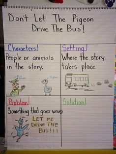 dont let the pigeon dirve the bus story props | We also did a review of story elements and used the story Don't Let ...