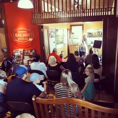 A picture of Cornucopia author Bridget Renshaw reading to fans at the Interurban Railway Museum in Plano, TX.  #childrensbook #childrensbooks #kids #books