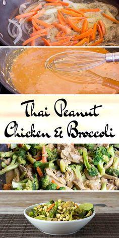 Thai Peanut Chicken & Broccoli - Low Carb, Grain & Dairy Free, THM S via @Joy Filled Eats - Gluten & Sugar Free Recipes