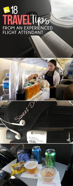 Travel like a boss and know all the pro tips for packing your suitcase or carry-on and what to do on the airplane during your flight for a more comfortable trip. travel hacks 18 Travel Tips from an Experienced Flight Attendant Packing Tips For Travel, Travel Advice, Travel Essentials, Budget Travel, Travel Hacks, Travel Ideas, Packing Hacks, Cheap Travel, Travel Necessities