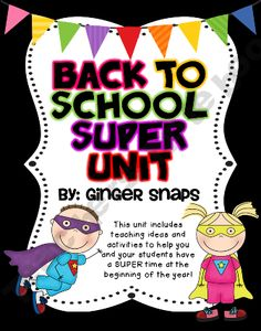 SUPERHERO Themed Back to School Unit product from Ginger-Snaps on TeachersNotebook.com