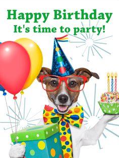 Party Dog - Animal Birthday Card