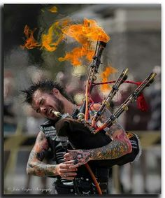 Badass. Check out the patch on his vest. Flamin' Bagpipes! - Now picture this on the eve of war