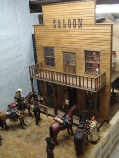 Western Saloon, Western Art, Gi Joe, Old Western Towns, Rustic Shed, Mini Barn, Barbie Diorama, Old Country Stores, Westerns
