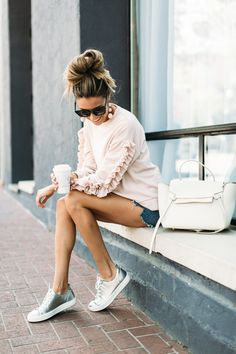 40 Stunning Summer Outfit Ideas With Blush Pink - Girly Outfits, Fall Outfits, Summer Outfits, Cute Outfits, Look Fashion, Urban Fashion, Womens Fashion, Fashion Hats, Fashion 2017