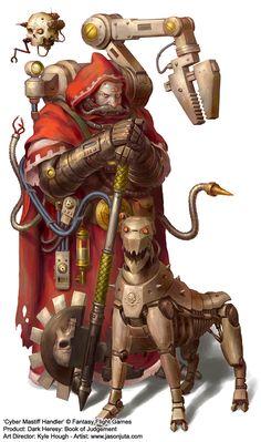 augmentation axe creature imperium jasonjuta mechanicus servo-skull techpriest