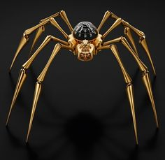 """MB&F Arachnophobia Table Clock Is Giant Time-Telling Spider On Your Desk Or Wall - by Rob Nudds - read & see more on aBlogtoWatch.com """"We've come to expect the sublime, the ridiculous, and everything in between from MB&F – but if anything, we have most come to expect the unexpected. Now celebrating the tenth anniversary of its establishment, over the last decade, MB&F has gone on to create some rather stunning wrist-worn 'Machines' – as they also like to call them..."""""""