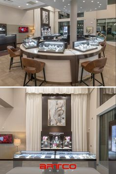 "Manufacture & Design of Store Fixtures by Artco Group. ""The only way to do great work is to love what you do"" Store Fixtures, Retail Design, Jewelry Stores, Planners, Basement, Fine Jewelry, United States, Group, Table"
