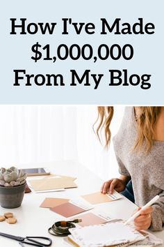 How I Successfully Built A $1,000,000+ Blog. Here's how to make money blogging and how I've built a $1,000,000 blog. I have earned over $1,500,000 with my blog and around $979,000 in just one year alone. Here's how to make money blogging for beginners and how to make money blogging fast. Managing Your Money, Make Money Blogging, How To Make Money, Earning Money, Money Tips, Paying Off Student Loans, Student Loan Debt, Earn Extra Cash, Extra Money