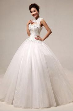This Sleeveless Mandarin Collar Satin And Organza Wedding Dress Is A Lovely Bridal Ballgown Which Has Natural Waist Built In Bra Sweet