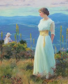 The Athenaeum -Far Away Thoughts Charles Courtney Curran - Date unknown Painting - oil on canvas Height: 55.88 cm (22 in.), Width: 45.72 cm (18 in.)