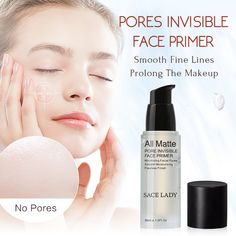 Face Base Primer Makeup Liquid Matte Make Up Fine Lines Oil-control Facial Cream Brighten Foundation Primer Cosmetic Foundation Primer, Face Primer, Primer Cosmetics, Makeup Primer, Smooth Face, Minimize Pores, Cream Concealer, Facial Cream