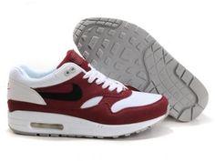 Nike Air Max 1 Schuhe Farbe Rot Weiß Braun