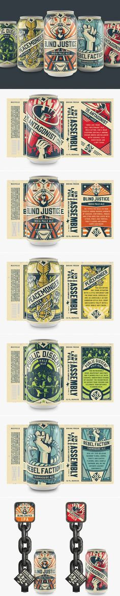 These Cans Are One Part Rock & Roll and One Part Craft Beer Propaganda — The Dieline | Packaging & Branding Design & Innovation News