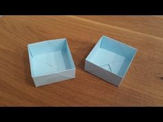 How To Make a Paper Box - Origami - YouTube