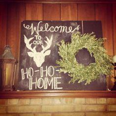 Welcome to our Ho-Ho-Home! (2013 mantel)