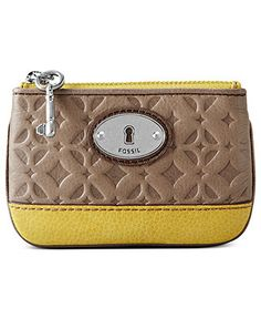 Fossil Signature-Embossed Coin Purse -  Macy's