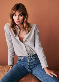 i love clothes Look Blazer, Surfer Girl Style, Mode Plus, Moda Casual, Coton Biologique, Trends, Organic Cotton, Girl Fashion, Parisian Style