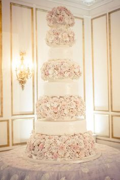 This cake is unlike anything we've ever seen before: http://www.stylemepretty.com/texas-weddings/houston/2015/04/21/miss-usa-says-i-do-in-a-glamorous-ballroom-affair/ | Photography: Select Studios - http://www.selectstudiosphoto.com/