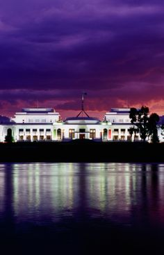 Old and New Parliament buildings, Canberra, Australia.