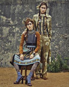 Kim Won Kyung, Jin Jung Sun by Yoo Young Gyu for Vogue Korea Aug 2015