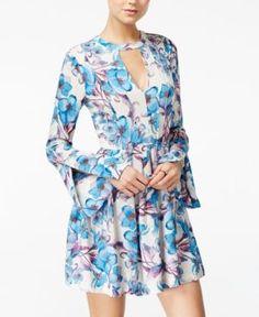 1705bc859749 Free People Tegan Printed Cutout Mini Dress   Reviews - Dresses - Women -  Macy s
