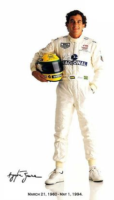 Ayrton Senna da Silva; Today F1 fans and drivers collectively pay tribute to the Brazilian racing driver and three-time Formula One world champion. Senna often regarded as one of the greatest F1 drivers to have raced. On May 1, 1994, in the San Marino Grand Prix, where his race-leading Williams inexplicably speared off the Imola track and hit the concrete wall at Tamburello corner. Senna is the most recent driver to die at the wheel of a Formula One car. March 21, 1960 – May 1, 1994 - R.I.P.