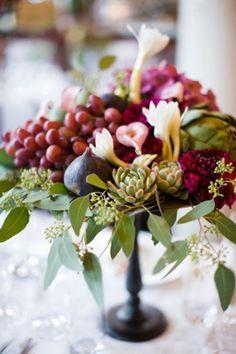 La uva es una fruta exquisita, que tanto puede servir en una boda como aperitivo o decoración.