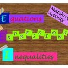 This is a 10 page resources that reviews solving equations and inequalities, and writing expressions.  The equations and inequalities vary from sim...