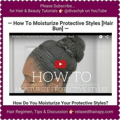 [#BLOGPOST & VIDEO] How to #Moisturize & #Seal Your #protectivestyle. Link to blog in bio. Would love it if you subbed to my YouTube channel! #relaxedthairapy #relaxedhair #naturalhair #texlaxedhair #hotd #hairregimen #blogger #bblogger