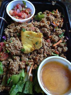 Southwest Taco Salad with Lime Vinaigrette Lime Vinaigrette, Fried Rice, Fries, Tacos, Salad, Beef, Meals, Ethnic Recipes, Food