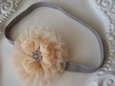 Valentine's Day Tulle Floral Headband Tulle by lewisandbucky, $18.00