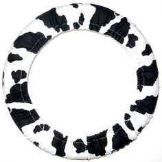Cow Print Steering Wheel Cover Cute Fun by EmbellishMePattyV, $18.00 I MUST HAVE!