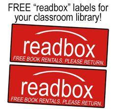 FREE Classroom Library Readbox Labels - Adorable idea!!!