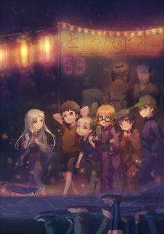Menma, Jintan, Momo, Anaru, Tsuruko, Yukiatsu