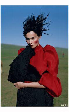 December 2011 - Kirsi Pyrhönen in Mongoli Photo Tim Walker b