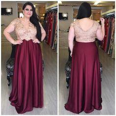 Sheath Cap Sleeve Burgundy Silk Lace Plus Size Mother Evening Prom Dress