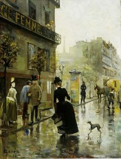 Paris Boulevard, 1885 by Akseli Gallen-Kallela (Finnish Turku Art Museum. Maurice Utrillo, Art Et Architecture, Paris Painting, Great Paintings, Monet, Painting & Drawing, Art Museum, Art History, Oil On Canvas