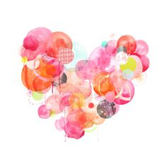 Heart print by Amy Borrell