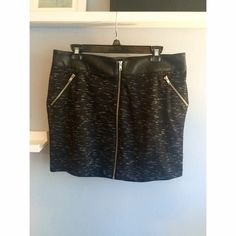 Rock & Republic Skirt Hand wash cold. Body: 93% polyester, 3% other fiber, 4% spandex. Faux leather: 100% polyester Rock & Republic Skirts Mini