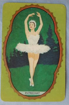 c1950 vintage Exclusive  to Coles swap card Ballet dancer titled Entrechat $3.24