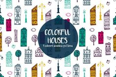 We published a set of Colorful Houses Vector Seamless Free Pattern. This wonderful graphics will come in handy for many designers. Free Vector Patterns, Free Vector Graphics, Vector Art, House Vector, Website Design Layout, Paper Gifts, Icon Set, House Colors, Colorful Houses