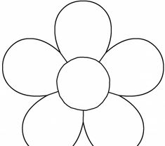 Daisy Flower Template : Kids Coloring