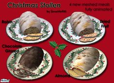 Delicious Christmas stollen for your sims to prepare and enjoy this Holiday…