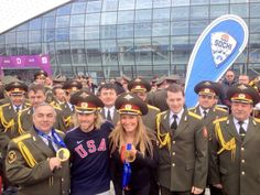 USA gold medalists and the Russian band