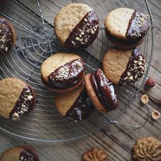 Paleo Hazelnut Butter Sandwich Cookies