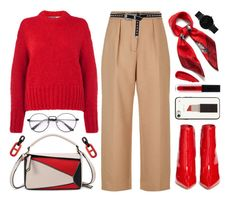 """""""Red Madness"""" by the-amj ❤ liked on Polyvore featuring Sportmax Code, Maje, Gianvito Rossi, Mulberry, B-Low the Belt, Kate Spade, CLUSE and Sisley"""
